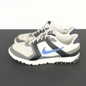 Nike AIR Golf Shoes Size 9.5  blue white S214